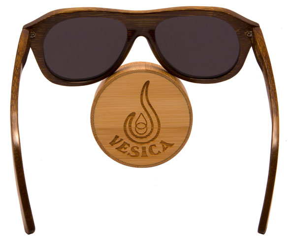 Vesica Captain bamboo sunglasses back