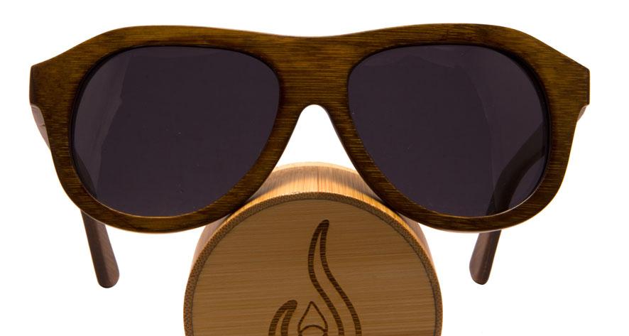 Vesica Captain bamboo sunglasses