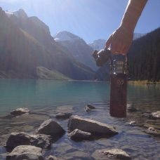 Vesica water bottle Lake Louise
