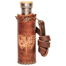 Butterfly Brown Deluxe Vesica waterbottlecase 1 of 4