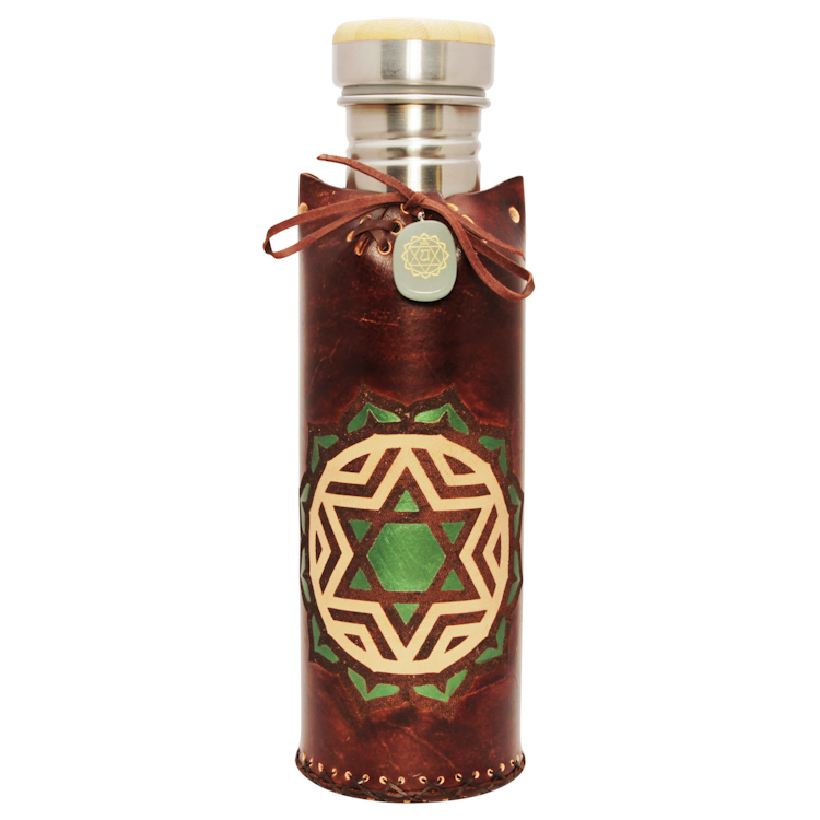 Heart BrownVesica waterbottlecase deluxe 29