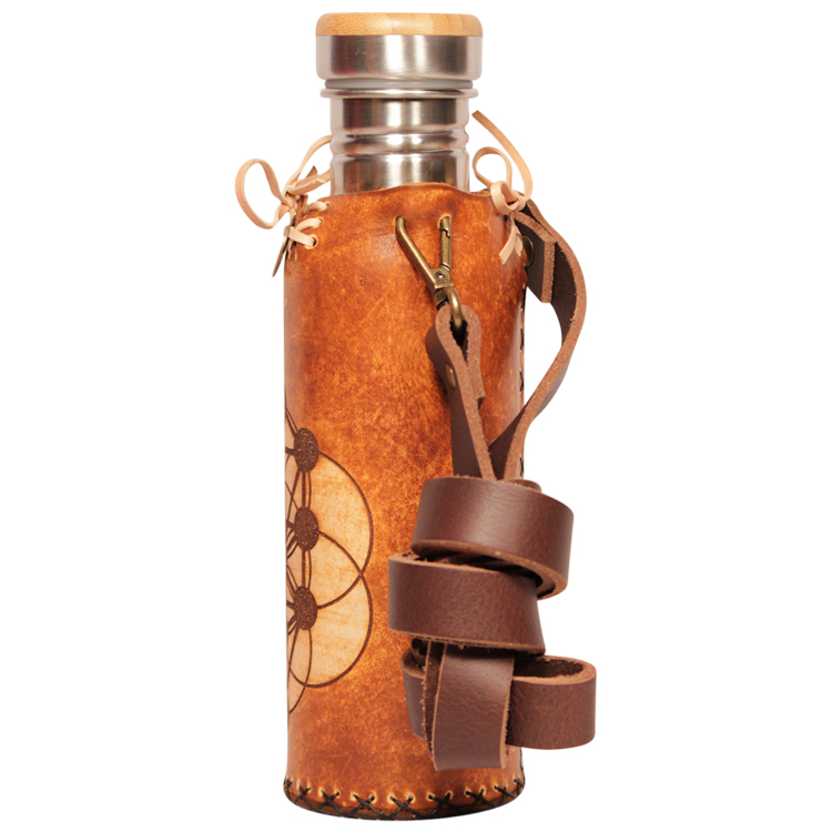 Tree of life Tan Deluxe Vesica waterbottlecase 2 of 4