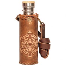 Triangle Grid Brown Deluxe Vesica waterbottlecase 1 of 4