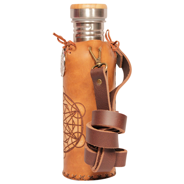 Triangle grid Timber Deluxe Vesica waterbottlecase 2 of 4