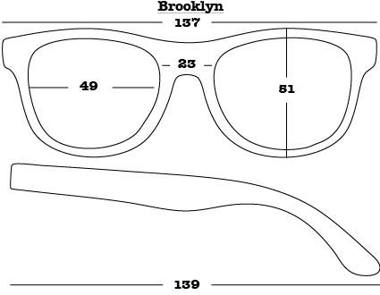 Brooklyn Sunglasses dimensions