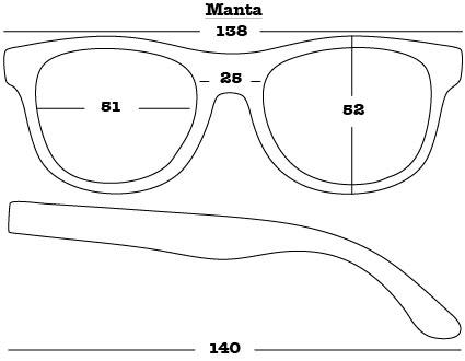 Manta Sunglasses dimensions
