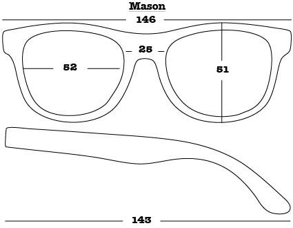 Mason Sunglasses dimensions