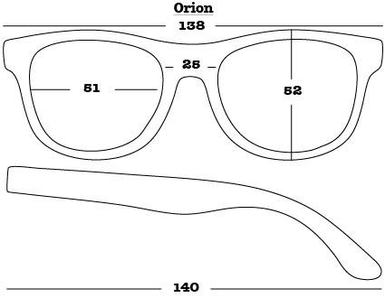 Orion Sunglasses dimensions