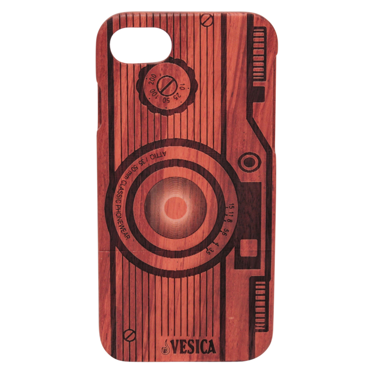 Vesica Wood phone case camera