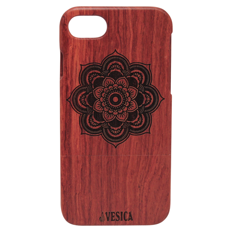 Vesica Wood phone case flower mandala