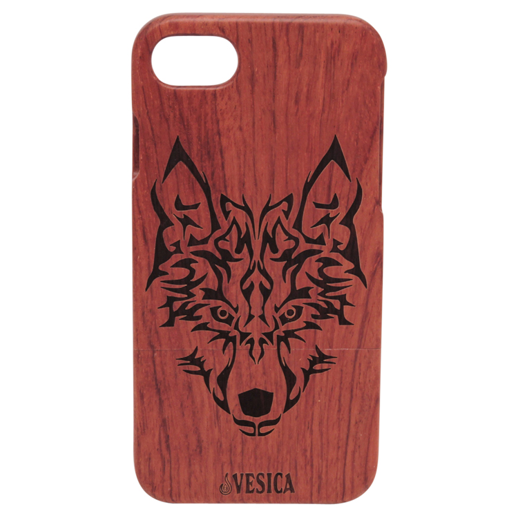 Vesica Wood phone case wolf