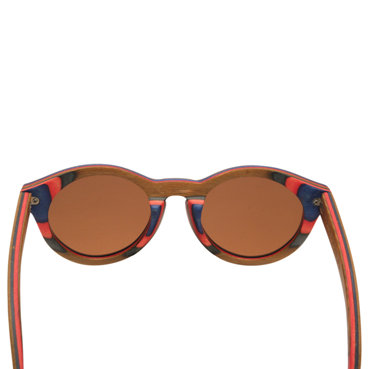 Vesica Wood sunglasses back Mojo