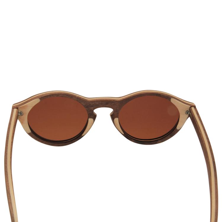 Vesica Wood sunglasses back Zia maple