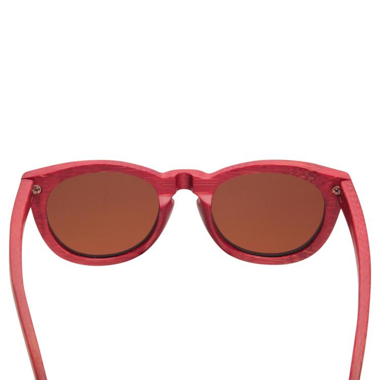 Vesica Wood sunglasses backBrooklyn red