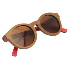 Vesica Wood sunglasses fold Mojo