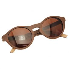 Vesica Wood sunglasses fold Zia maple