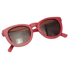 Vesica Wood sunglasses foldBrooklyn red