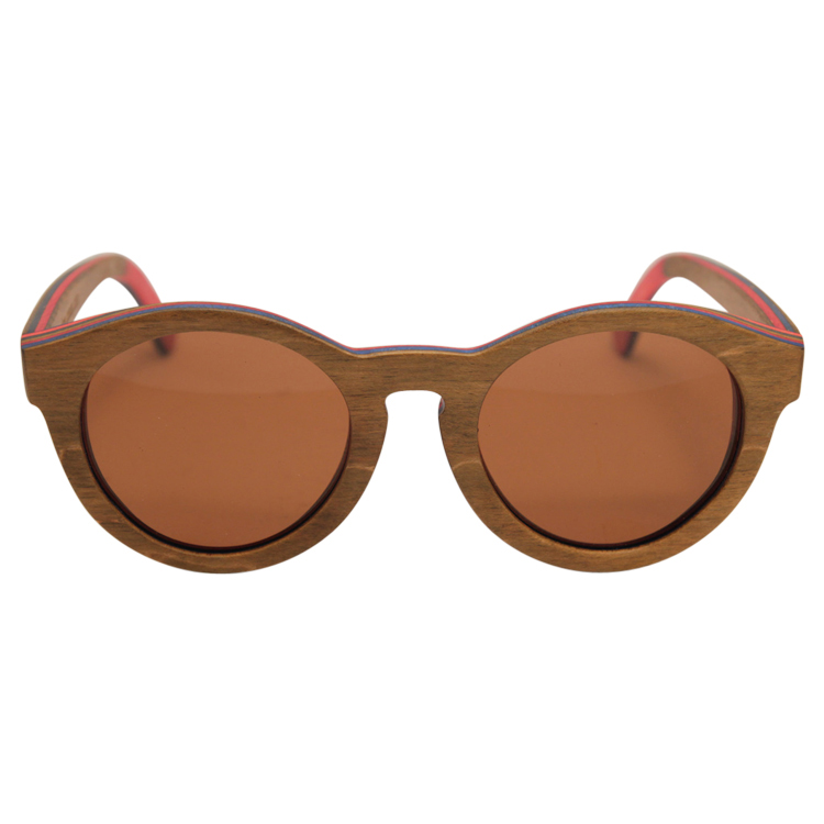 Vesica Wood sunglasses front Mojo