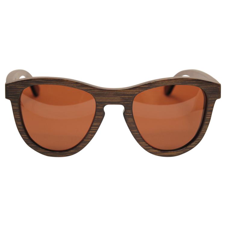 Vesica Wood sunglasses front Orion