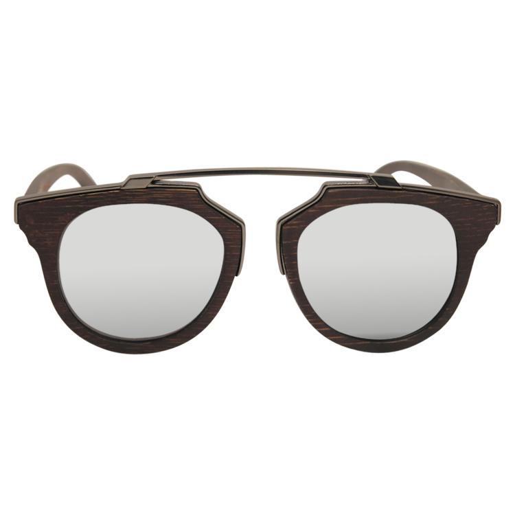 Vesica Wood sunglasses front Tide 1