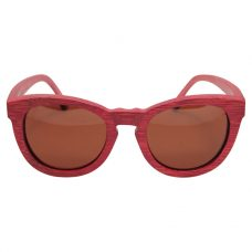 Vesica Wood sunglasses frontBrooklyn red