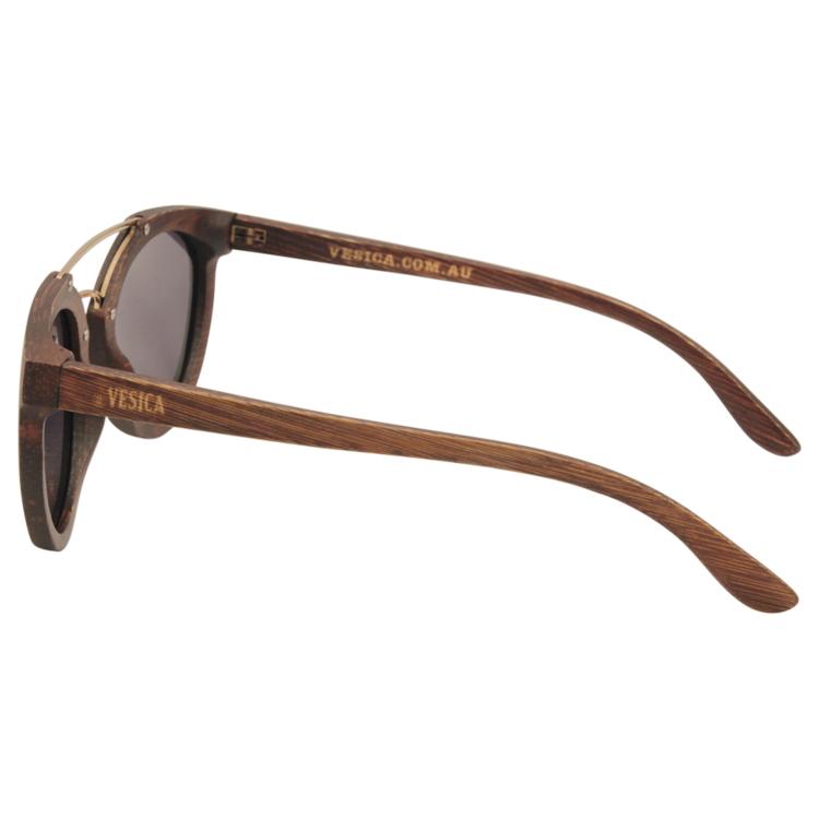 Vesica Wood sunglasses side Manta