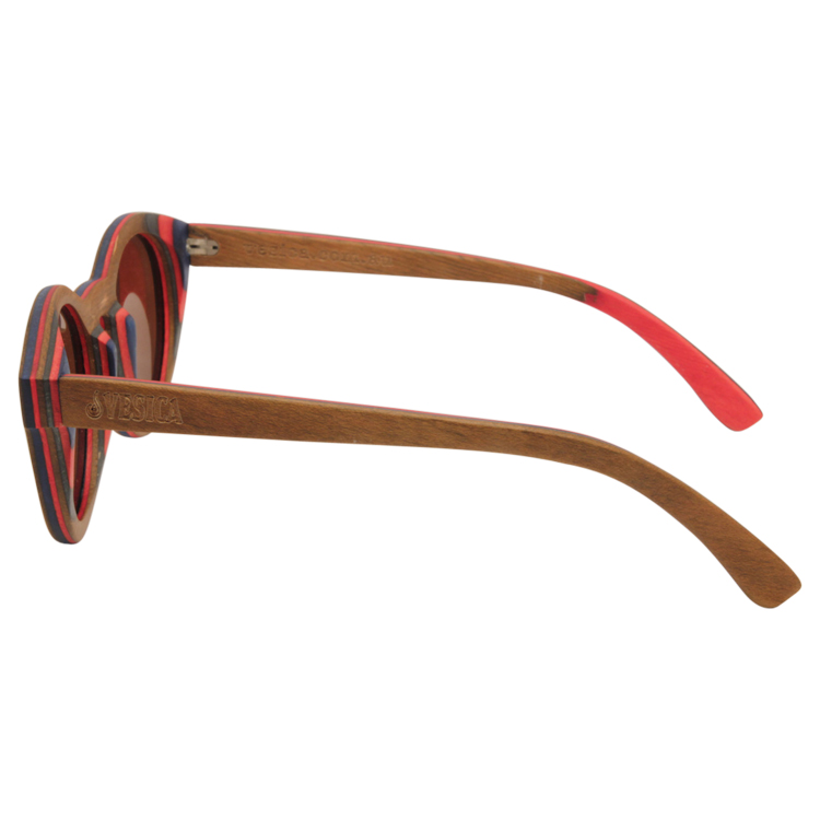Vesica Wood sunglasses side Mojo