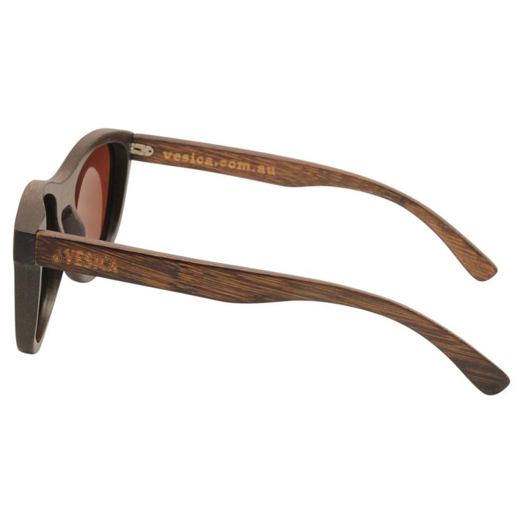 Vesica Wood sunglasses side Orion