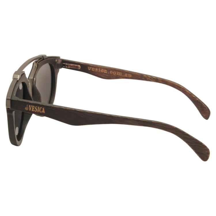 Vesica Wood sunglasses side Tide