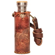 Horse Brown Deluxe Vesica waterbottlecase 1 of 4