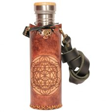 Icosahedron Brown Deluxe Vesica waterbottlecase 1 of 4