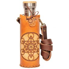 Metatron tan Deluxe Vesica waterbottlecase 1 of 4