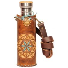Seed of life Brown A Deluxe Vesica waterbottlecase 1 of 4
