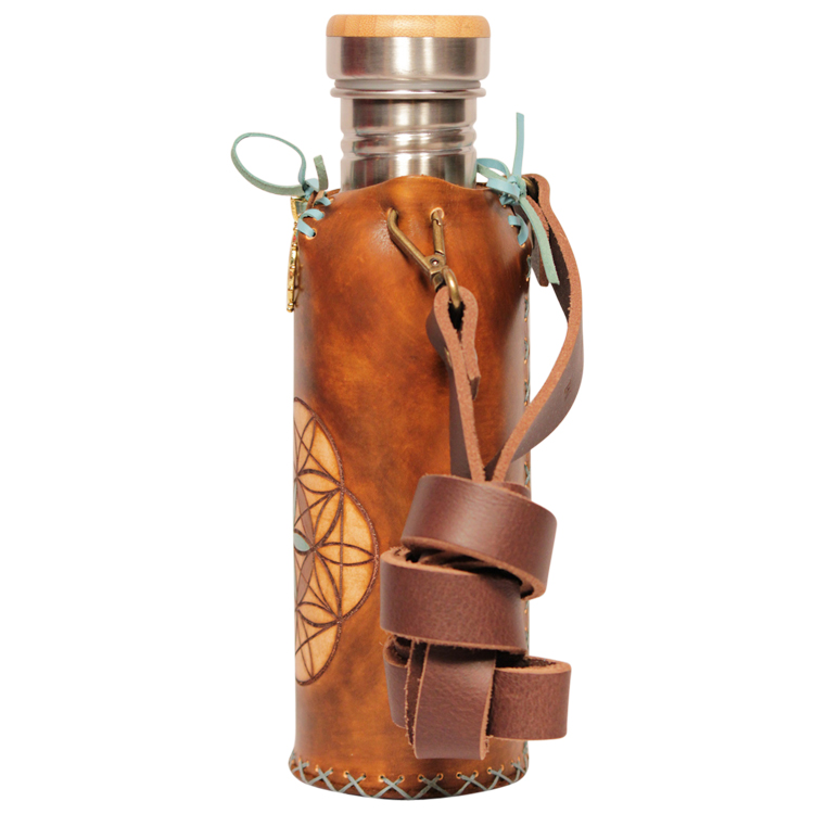 Seed of life Brown A Deluxe Vesica waterbottlecase 2 of 4