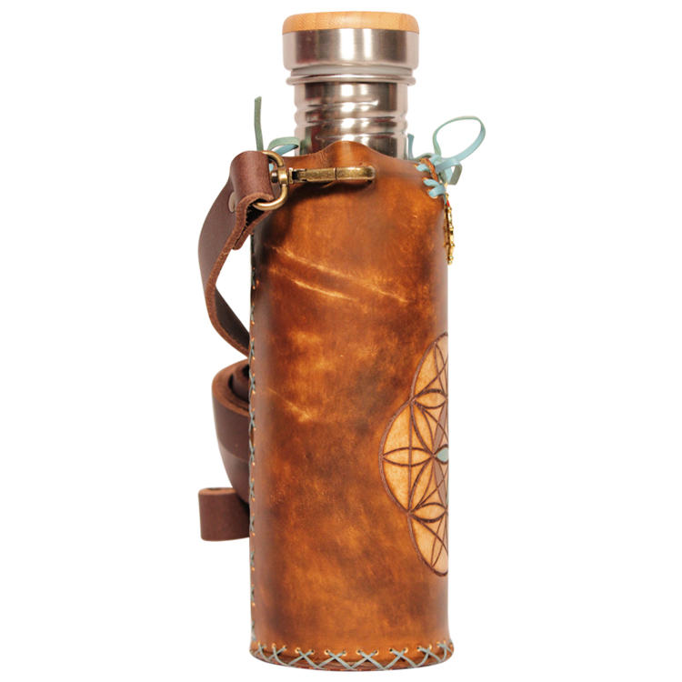 Seed of life Brown A Deluxe Vesica waterbottlecase 4 of 4