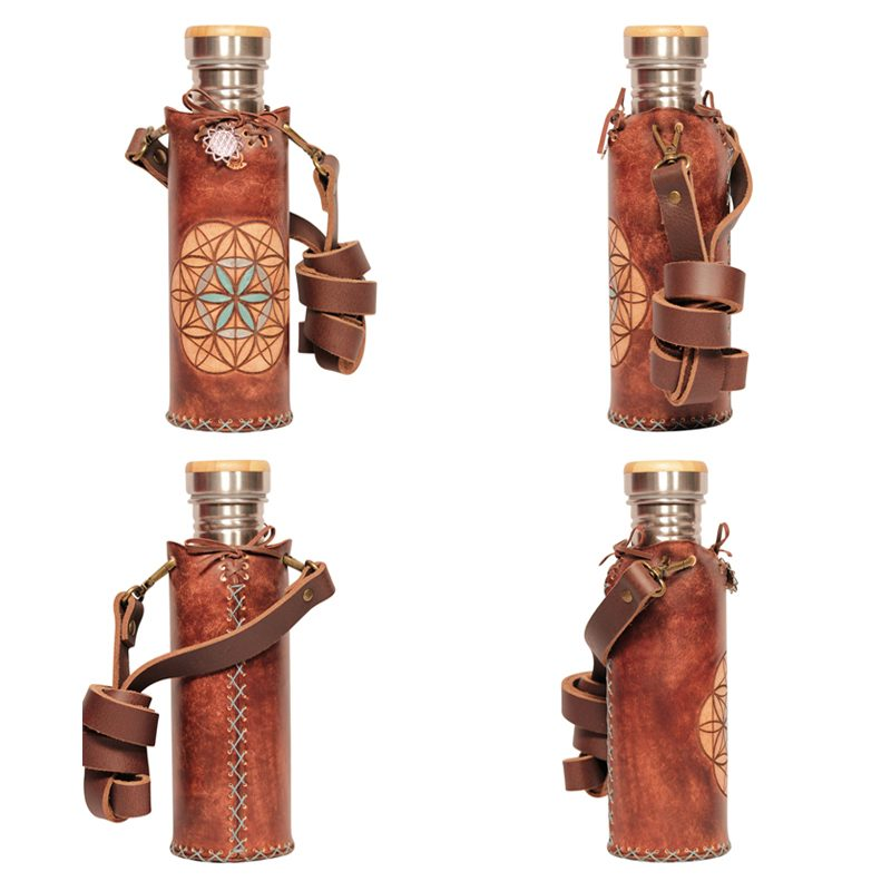 Seed of life Brown A Deluxe Vesica waterbottlecase collage