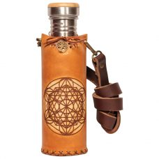 Icosahedron Timber Deluxe Vesica waterbottlecase 1 of 4