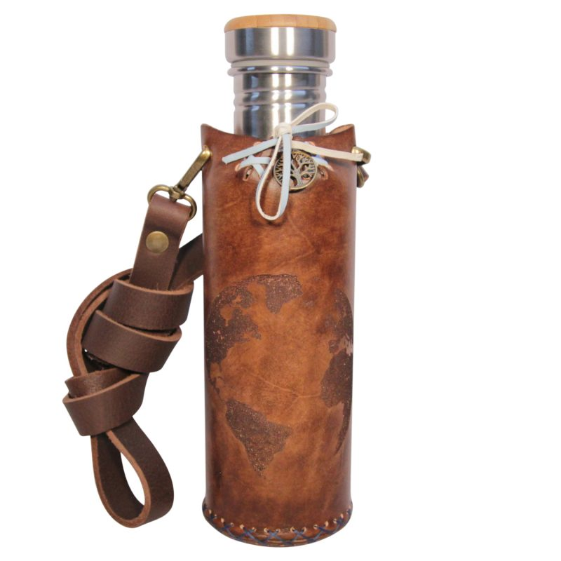 Earth brown A Deluxe Vesica waterbottlecase 1 of 4