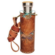 Butterfly A brown Deluxe Vesica waterbottlecase 1 of 4