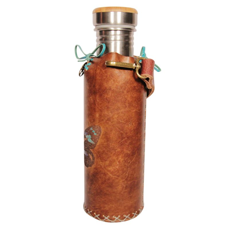 Butterfly A brown Deluxe Vesica waterbottlecase 2 of 4