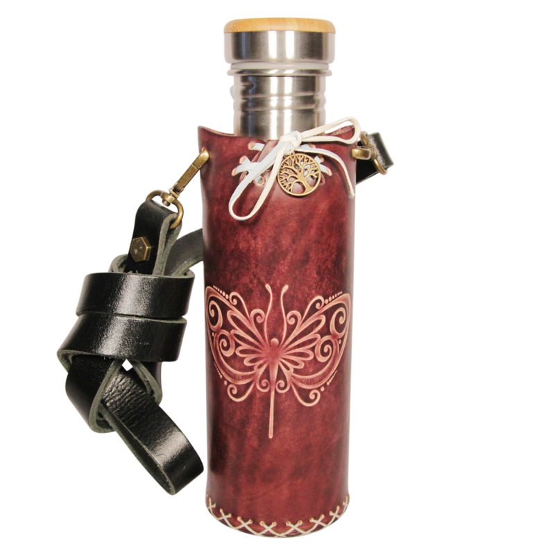 Butterfly mohongany Deluxe Vesica waterbottlecase 1 of 4 1