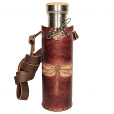 Dragonfly brown Deluxe Vesica waterbottlecase 1 of 4