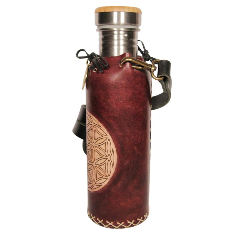 Flower of life mohogany Deluxe Vesica waterbottlecase 2 of 4