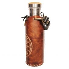 Flower of life brown Deluxe Vesica waterbottlecase 2 of 4