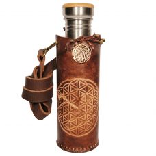 Flower of life hum brown Deluxe Vesica waterbottlecase 1 of 4