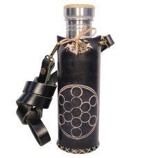 Fruit of life black Deluxe Vesica waterbottlecase 1 of 4