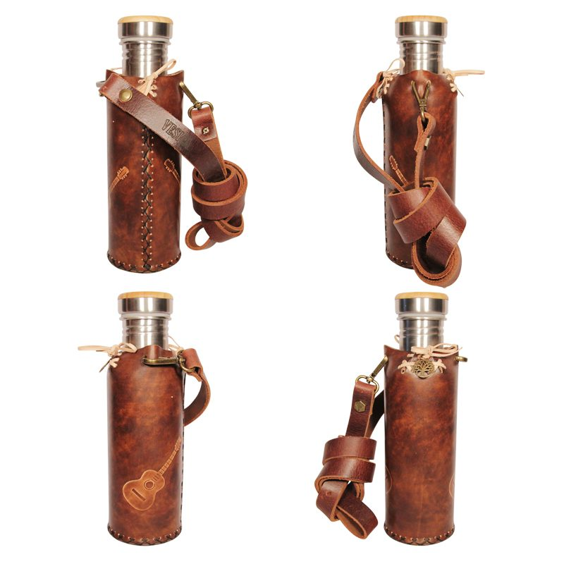 Guitars brownHummingbird SOL brown Deluxe Vesica waterbottlecase Collage
