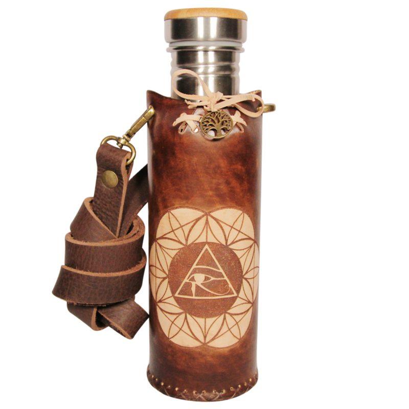 Horus SOL brown Deluxe Vesica waterbottlecase 1 of 4
