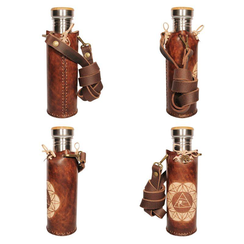 Horus SOL brown Deluxe Vesica waterbottlecase Collage