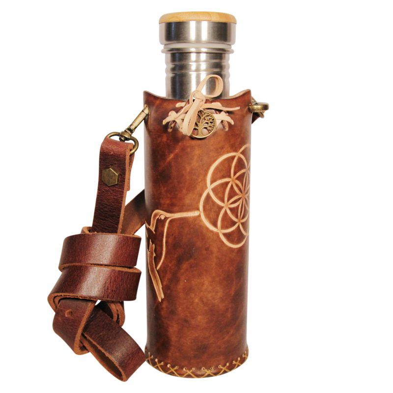 Hummingbird SOL A brown Deluxe Vesica waterbottlecase 1 of 4